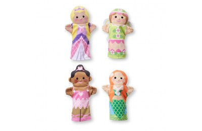 cheap Melissa & Doug Storybook Friends Hand Puppets (Set of 4) - Princess, Fairy, Mermaid, and Ballerina competitive reasonable