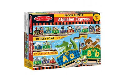 cheap Melissa & Doug Alphabet Express Jumbo Jigsaw Floor Puzzle (27pc, 10 feet long) competitive reasonable