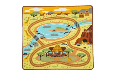 "competitive Melissa & Doug Round the Savanna Safari Rug Activity Rug (39 X 36"") reasonable cheap"