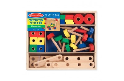 competitive Melissa & Doug Wooden Construction Building Set in a Box (48pc) cheap reasonable