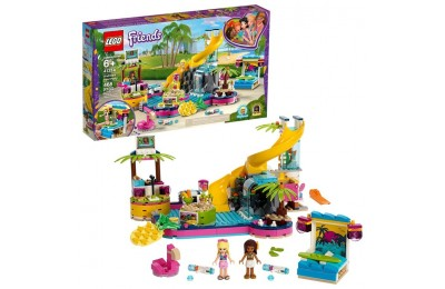 competitive LEGO Friends Andrea's Pool Party 41374 Toy Pool Building Set with Mini Dolls for Pretend Play reasonable cheap