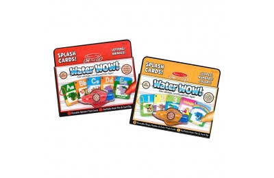 reasonable Melissa & Doug On the Go Water Wow Splash Cards, 2-Pack - Alphabet and Numbers and Colors competitive cheap