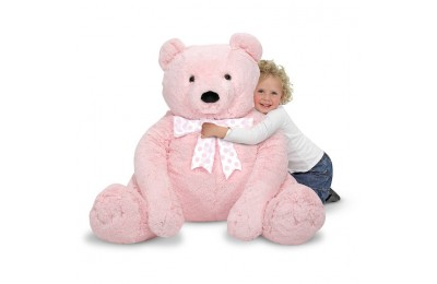reasonable Melissa & Doug Jumbo Pink Teddy Bear Stuffed Animal (2 feet tall) competitive cheap