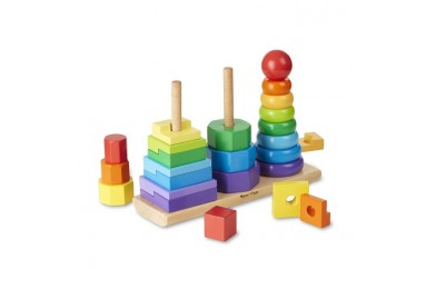competitive Melissa & Doug Geometric Stacker - Wooden Educational Toy cheap reasonable
