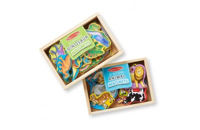 cheap Melissa & Doug Wooden Magnets Set - Animals and Dinosaurs With 40 Wooden Magnets competitive reasonable