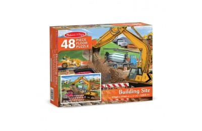 reasonable Melissa And Doug Building Site Jumbo Floor Puzzle 48pc competitive cheap
