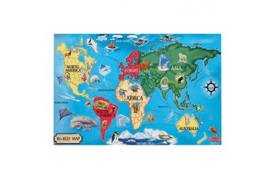 reasonable Melissa And Doug World Map Jumbo Floor Puzzle 33pc competitive cheap