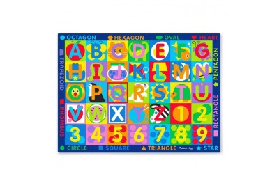 reasonable Melissa & Doug Jumbo ABC-123 Rug, Kids Unisex cheap competitive