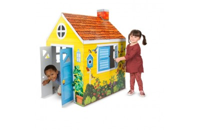 cheap Melissa & Doug Country Cottage Indoor Corrugate Playhouse (Over 4' Tall) reasonable competitive