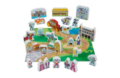 competitive Melissa & Doug Wooden Castle Play Set cheap reasonable