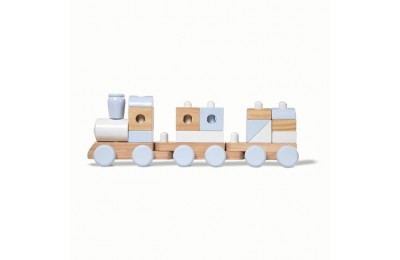 competitive Melissa & Doug Wooden Jumbo Stacking Train - Natural cheap reasonable