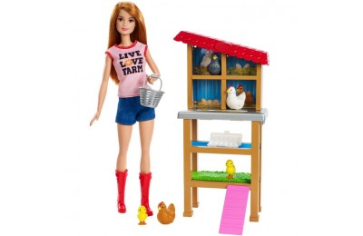 reasonable Barbie Chicken Farmer Doll & Playset competitive cheap