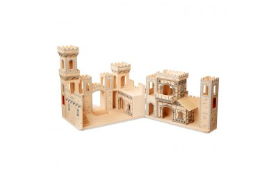 competitive Melissa & Doug Deluxe Folding Medieval Wooden Castle - Hinged for Compact Storage reasonable cheap