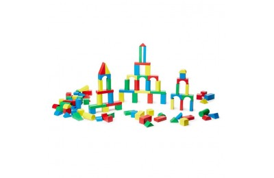 competitive Melissa & Doug Wooden Building Block Set - 200 Blocks in 4 Colors and 9 Shapes reasonable cheap