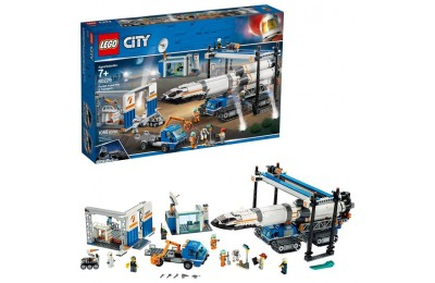 reasonable LEGO City Space Rocket Assembly & Transport 60229 Model Rocket Building Set with Toy Crane 1055pc competitive cheap