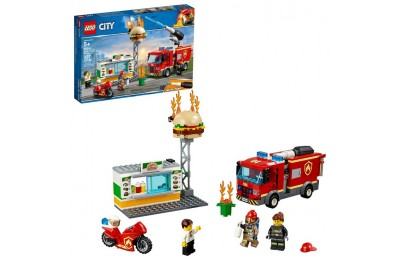 competitive LEGO City Burger Bar Fire Rescue 60214 reasonable cheap
