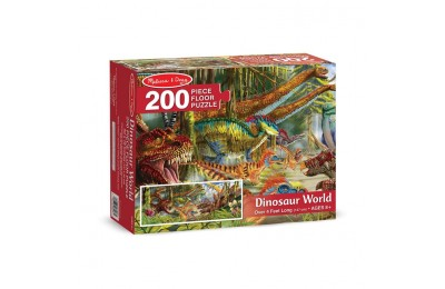 cheap Melissa And Doug Dinosaur World Jumbo Floor Puzzle 200pc competitive reasonable
