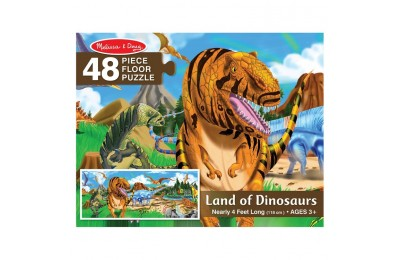 reasonable Melissa And Doug Land Of Dinosaurs Floor Puzzle 48pc cheap competitive