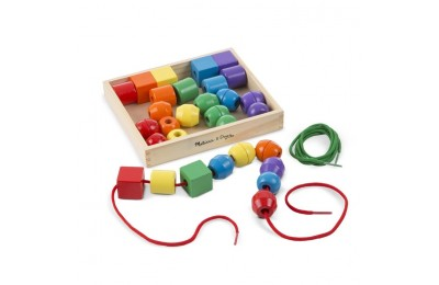 competitive Melissa & Doug Primary Lacing Beads - Educational Toy With 30 Wooden Beads and 2 Laces reasonable cheap