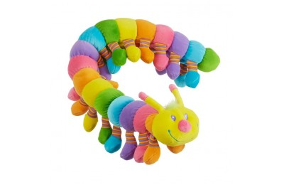 reasonable Melissa & Doug Longfellow Caterpillar - Rainbow-Colored Stuffed Animal With 32 Floppy Feet (over 2 feet long) competitive cheap