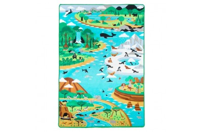 "cheap Melissa & Doug Jumbo Habitats Activity Rug, 58 x 79"" reasonable competitive"