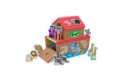 reasonable Melissa & Doug Noah's Ark Wooden Shape Sorter Educational Toy (28pc) competitive cheap