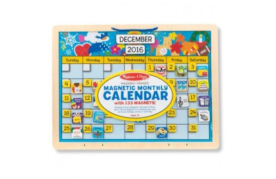 competitive Melissa & Doug Monthly Magnetic Calendar With 133 Magnets and 2 Fabric-Hinged Dry-Erase Boards cheap reasonable