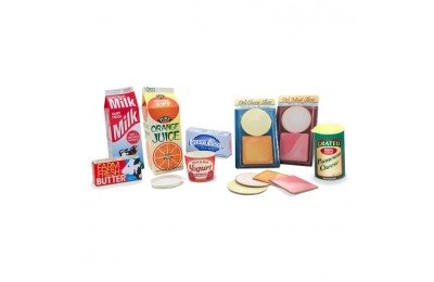 competitive Melissa & Doug Fridge Groceries Play Food Cartons (8pc) - Toy Kitchen Accessories cheap reasonable