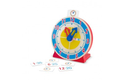 reasonable Melissa & Doug Turn & Tell Wooden Clock - Educational Toy With 12+ Reversible Time Cards cheap competitive