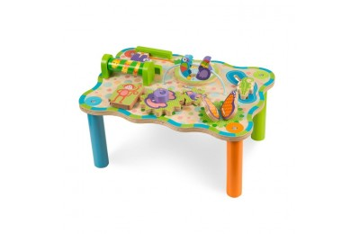reasonable Melissa & Doug First Play Childrens Jungle Wooden Activity Table for Toddlers cheap competitive