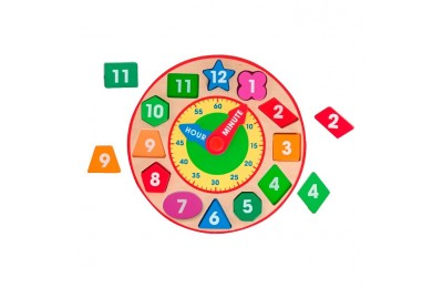 cheap Melissa & Doug Shape Sorting Clock - Wooden Educational Toy competitive reasonable