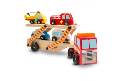 competitive Melissa & Doug Wooden Emergency Vehicle Set of 6 cheap reasonable