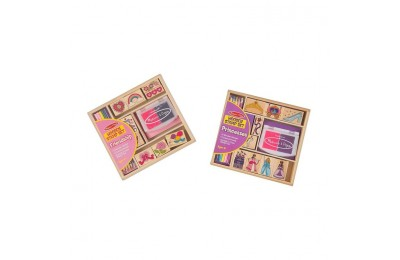 cheap Melissa & Doug Wooden Stamps, Set of 2 - Princess and Friendship, With 18 Stamps, 10 Colored Pencils, and 2 Stamp Pads reasonable competitive