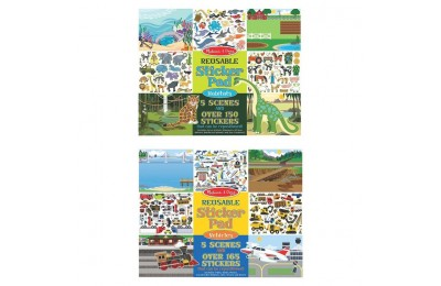 competitive Melissa & Doug Reusable Sticker Pads Set: Vehicles and Habitats, 315+ Stickers and 10 Scenes reasonable cheap