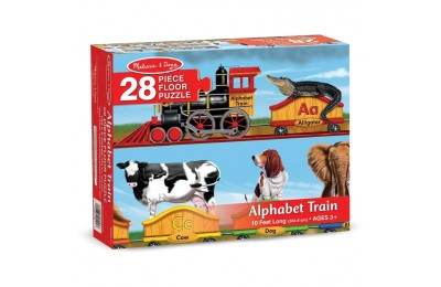 reasonable Melissa And Doug Alphabet Train Letters And Animals Jumbo Floor Puzzle 28pc cheap competitive