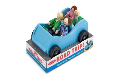 competitive Melissa & Doug Road Trip Wooden Toy Car and 4 Poseable Dolls (4-5 inches each) cheap reasonable