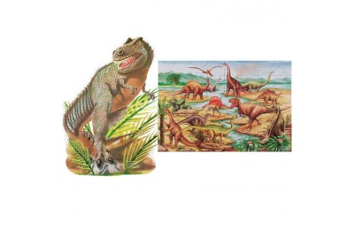 competitive Melissa & Doug Dinosaur and T-Rex 2pk Floor Puzzle cheap reasonable