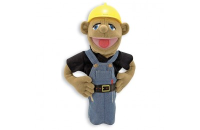 reasonable Melissa & Doug Construction Worker Puppet With Detachable Wooden Rod for Animated Gestures cheap competitive