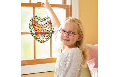 cheap Melissa & Doug Stained Glass Made Easy Activity Kit: Butterfly - 140+ Stickers competitive reasonable
