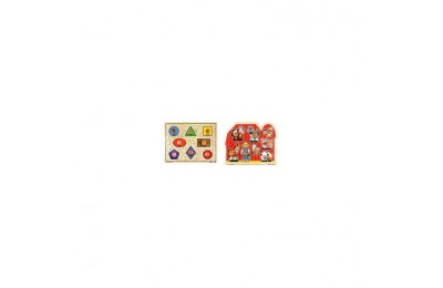 competitive Melissa & Doug Jumbo Knob Wooden Puzzles - Shapes and Farm Animals 2pc cheap reasonable