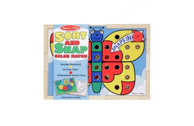 reasonable Melissa & Doug Sort and Snap Color Match - Sorting and Patterns Educational Toy competitive cheap