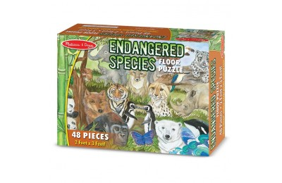reasonable Melissa And Doug Endangered Species Jumbo Floor Puzzle 48pc competitive cheap