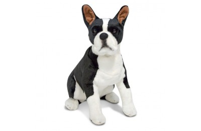 cheap Melissa & Doug Giant Boston Terrier - Lifelike Stuffed Animal Dog competitive reasonable