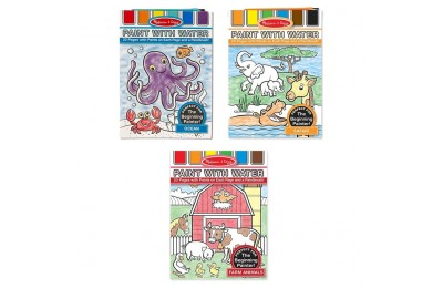 competitive Melissa & Doug Paint With Water Activity Books Set: Farm, Ocean, Safari reasonable cheap
