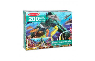 reasonable Melissa And Doug Underwater Oasis Jumbo Floor Puzzle 200pc competitive cheap