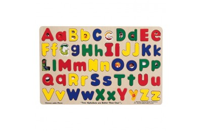 competitive Melissa & Doug Upper & Lower Case Alphabet Letters Wooden Puzzle (52pc) reasonable cheap