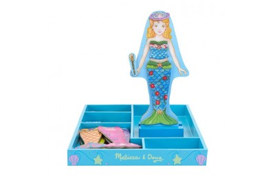 competitive Melissa & Doug Merry Mermaid Wooden Dress-Up Doll and Stand - 35 Magnetic Accessories reasonable cheap