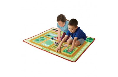 reasonable Melissa & Doug Round the Barnyard Farm Rug, Kids Unisex cheap competitive
