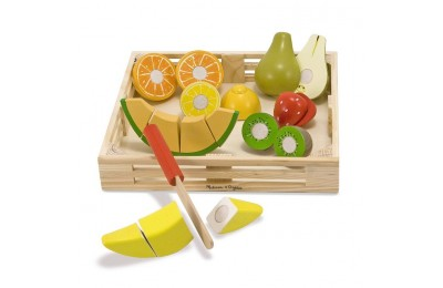 cheap Melissa & Doug Cutting Fruit Set - Wooden Play Food Kitchen Accessory competitive reasonable