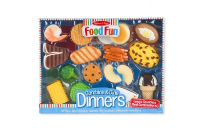 reasonable Melissa & Doug Food Fun Combine & Dine Dinners - Blue cheap competitive